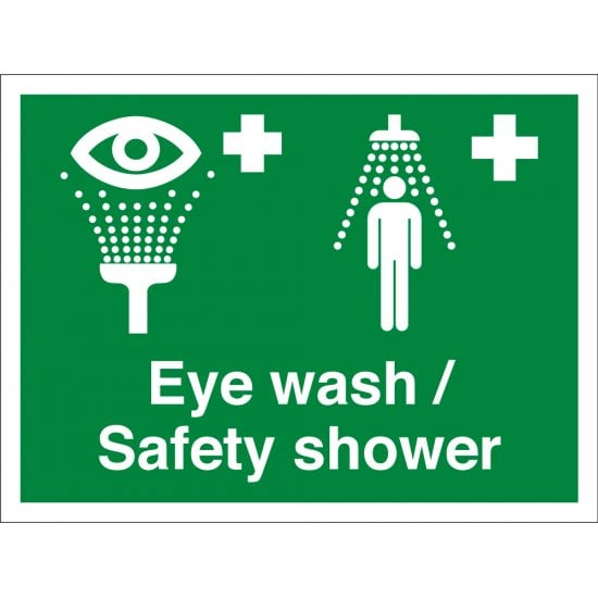 Eye Wash Safety Shower Signs