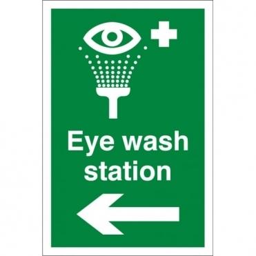 Eye Wash Station Arrow Left Signs