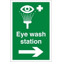 Eye Wash Station Arrow Right Signs