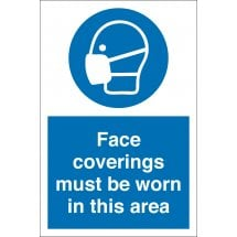 Face Coverings Must Be Worn In This Area Signs