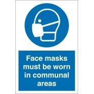 Face Masks Must Be Worn In Communal Areas Signs