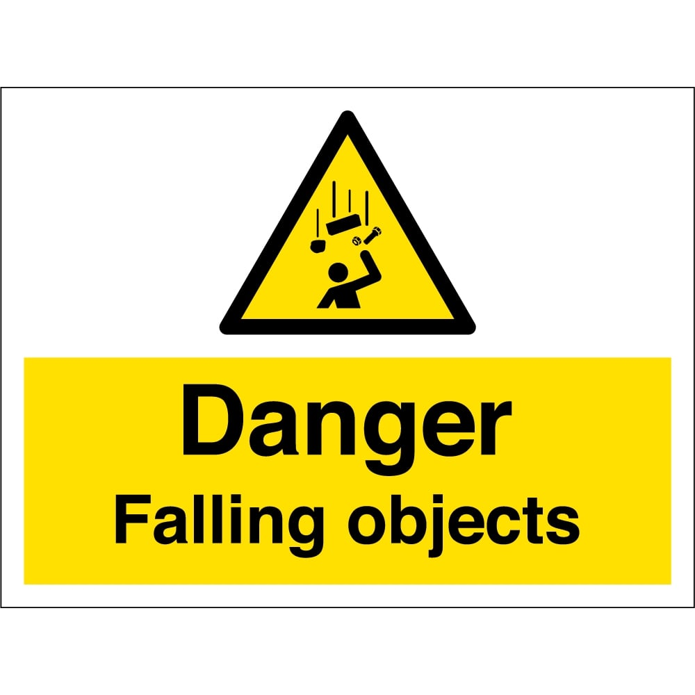 falling objects warning signs from key signs uk