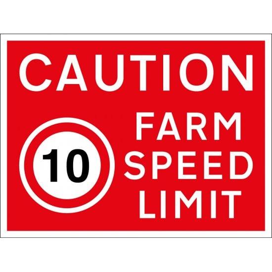 Farm Speed Limit 10mph Sign