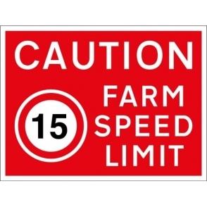Farm Speed Limit 15mph Sign