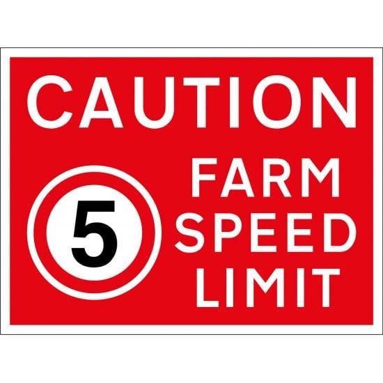 Farm Speed Limit 5mph Sign