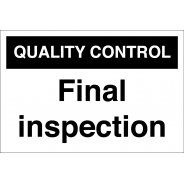 Final Inspection Signs