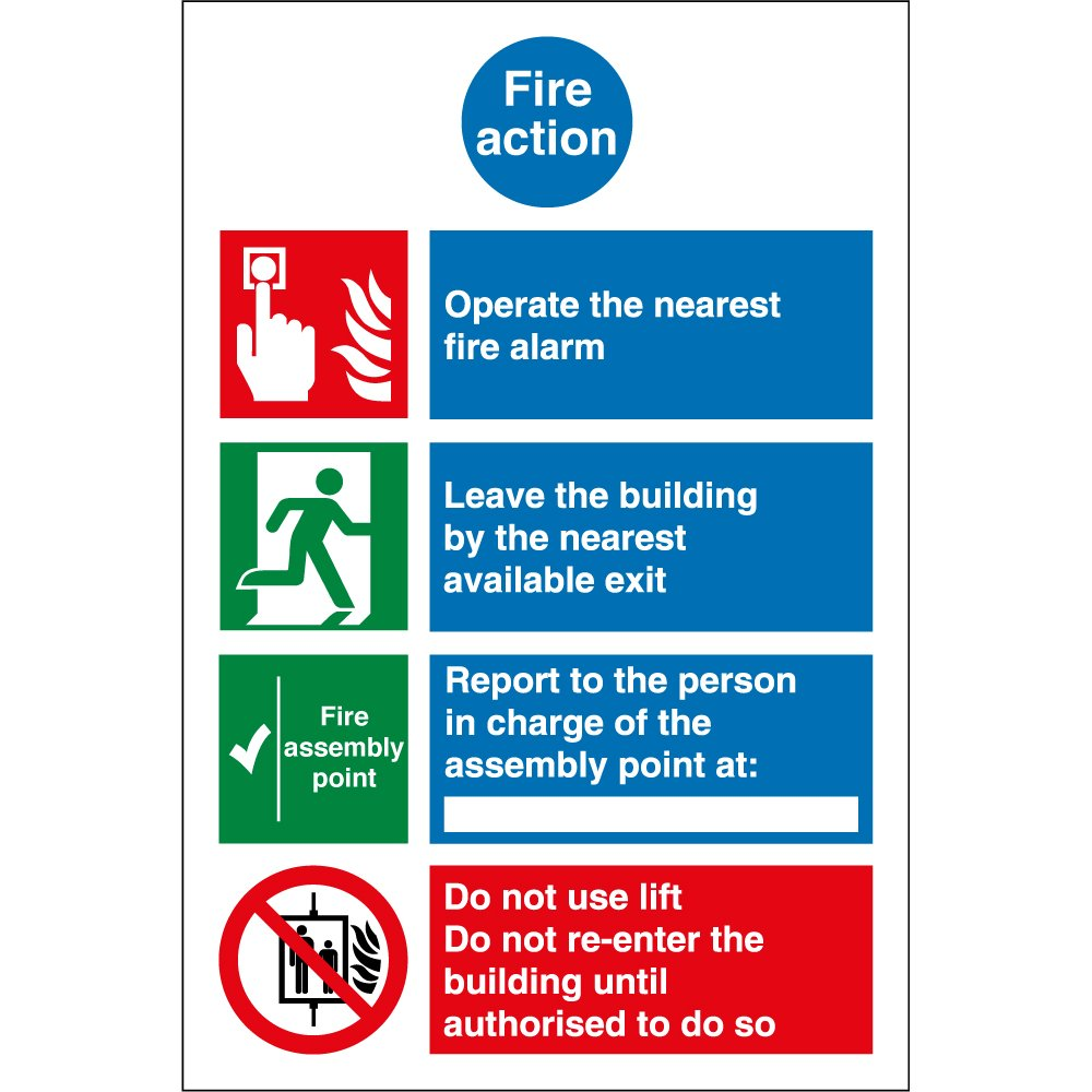 Fire Action Notice Signs P752 on fire alarm code symbols