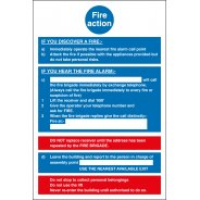 Fire Action Notice Signs