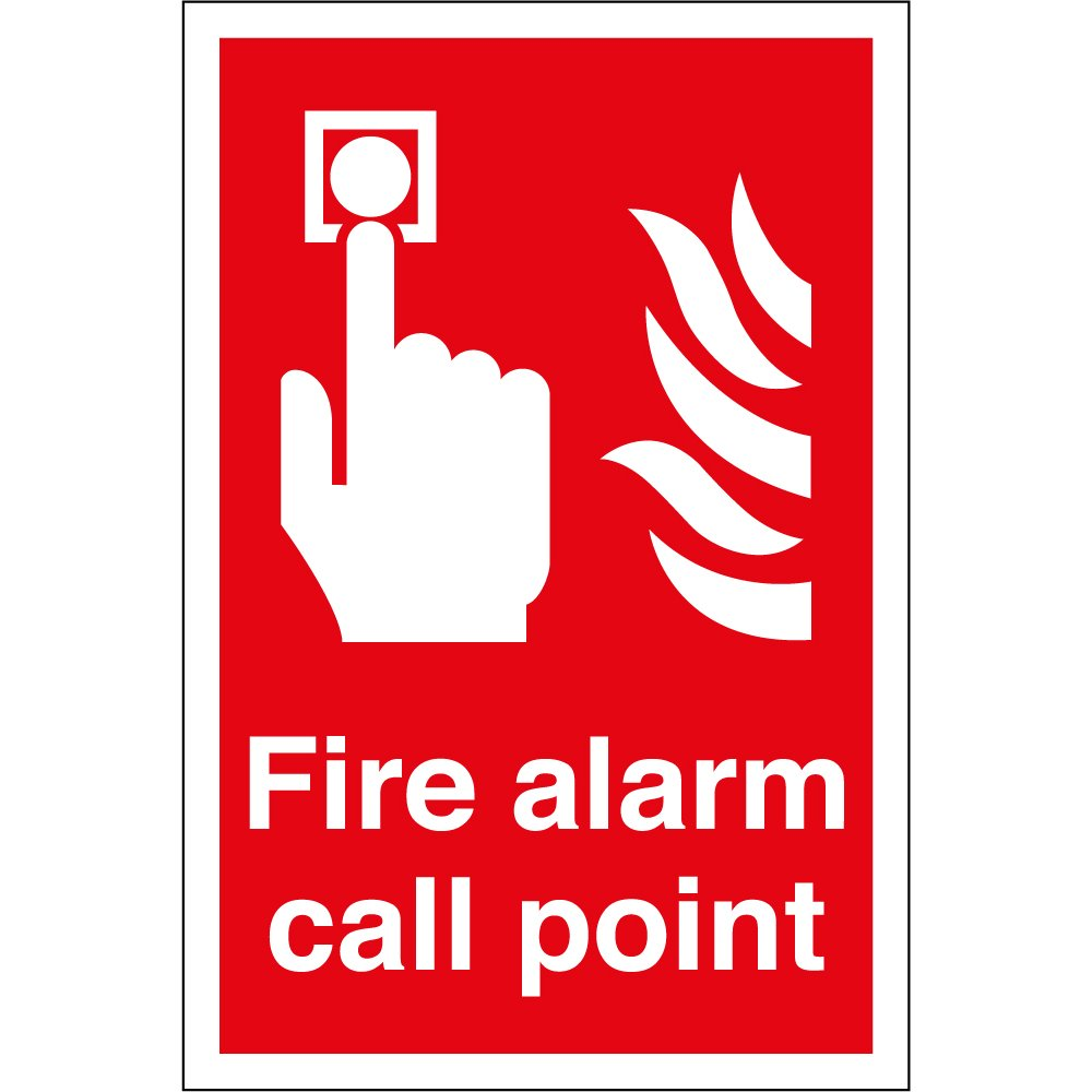 fire alarm call point signs from key signs uk