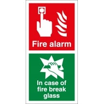Fire Alarm In Case Of Fire Break Glass Signs