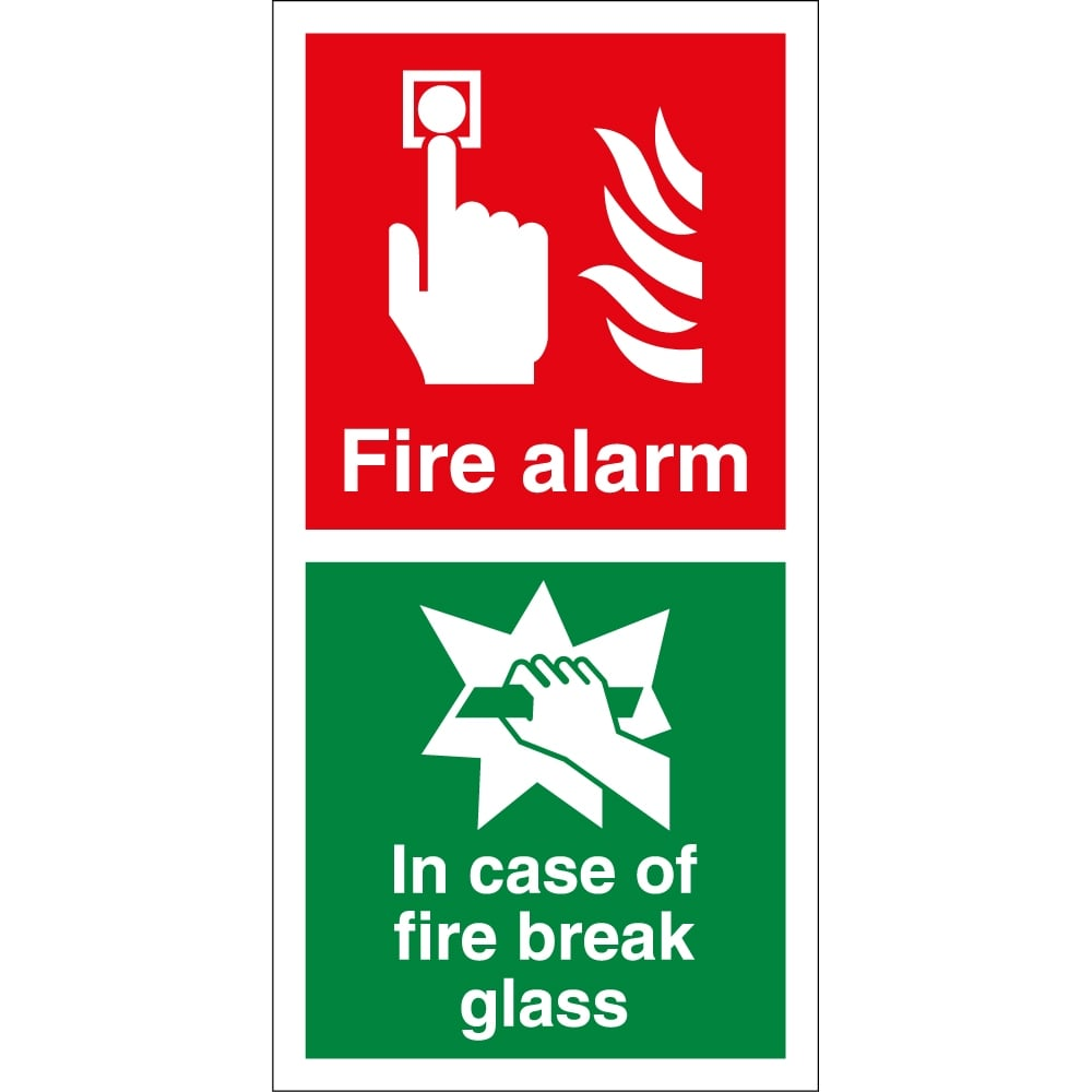 fire alarm in case of fire break glass signs from key