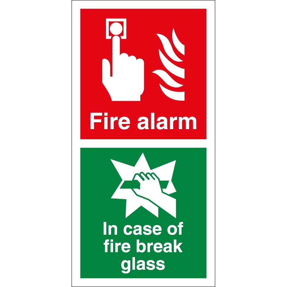 fire alarm in case of fire break glass signs from key