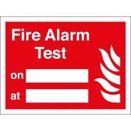 Fire Alarm Test Signs