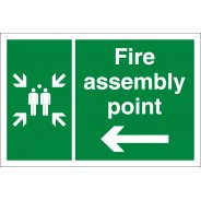 Fire Assembly Point Arrow Left Signs
