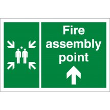 Fire Assembly Point Arrow Up Signs