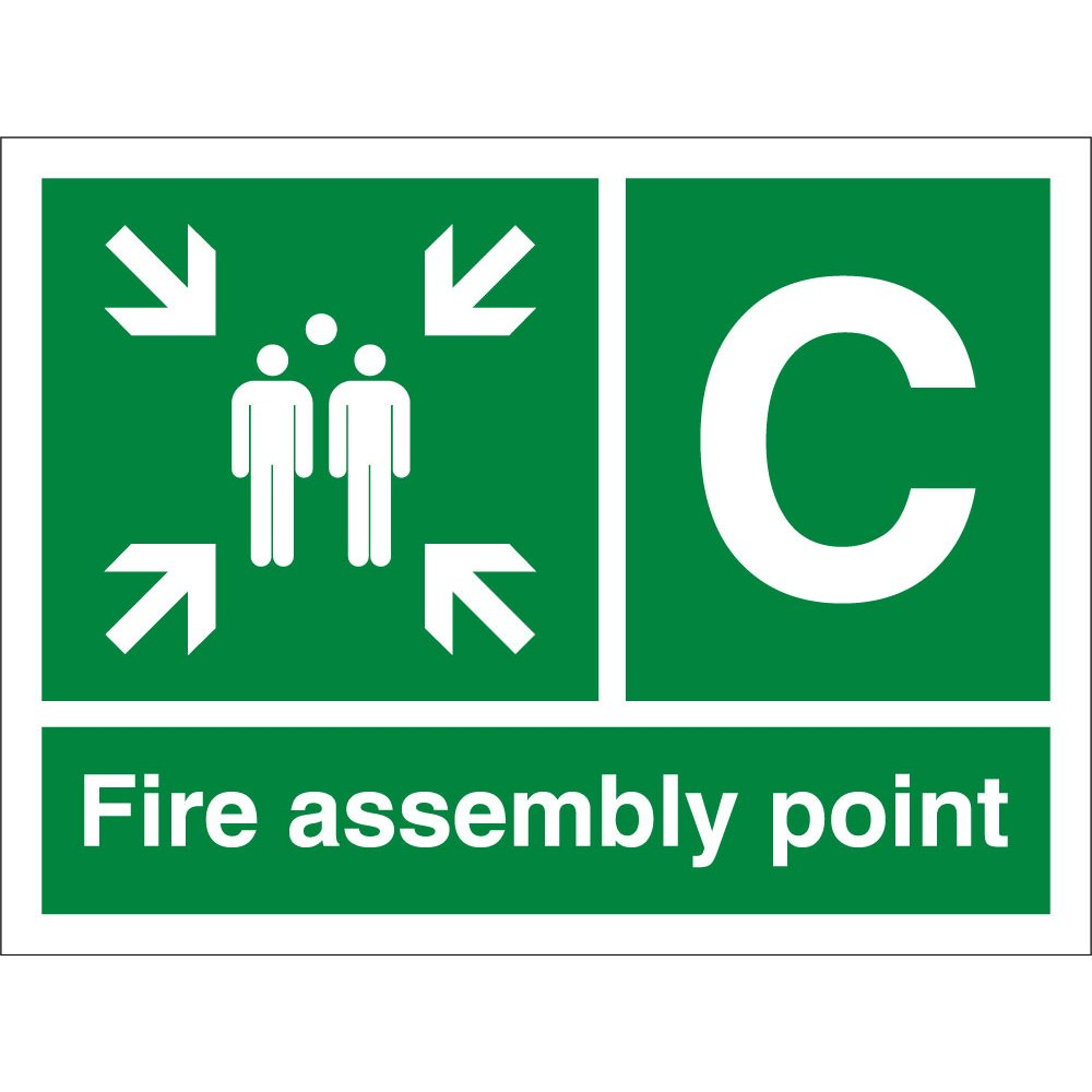 fire assembly point c signs from key signs uk. Black Bedroom Furniture Sets. Home Design Ideas