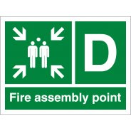 Fire Assembly Point D Signs