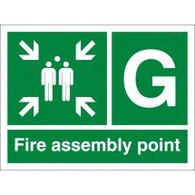 Fire Assembly Point G Signs