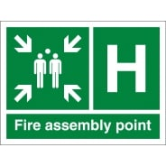Fire Assembly Point H Signs
