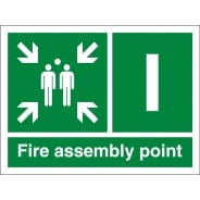 Fire Assembly Point I Signs