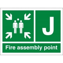 Fire Assembly Point J Signs
