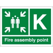 Fire Assembly Point K Signs