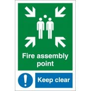 Fire Assembly Point Keep Clear Signs