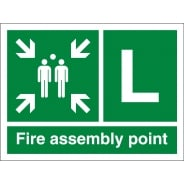 Fire Assembly Point L Signs
