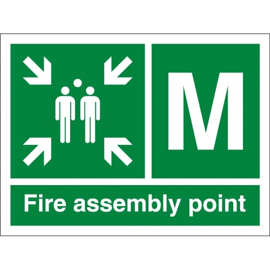 Fire Assembly Point M Signs