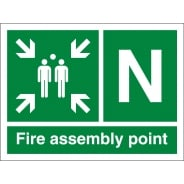 Fire Assembly Point N Signs
