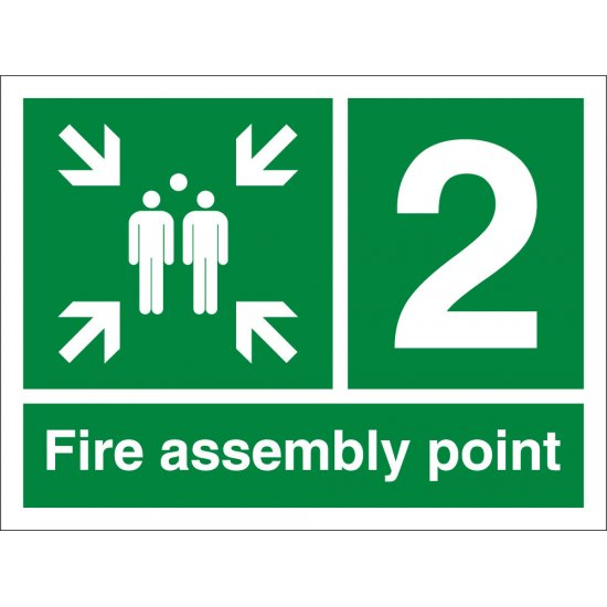 Fire Assembly Point Number 2 Signs