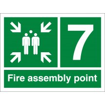 Fire Assembly Point Number 7 Signs