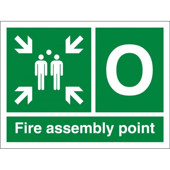 Fire Assembly Point O Signs