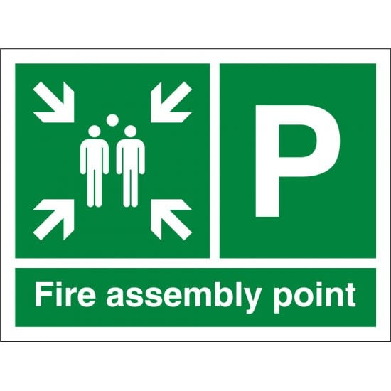 Fire Assembly Point P Signs