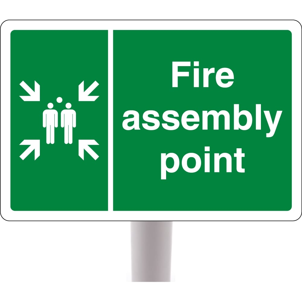 Fire Assembly Point Signs On Posts From Key Signs Uk