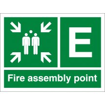 Fire Assembly Point Signs with Letter E