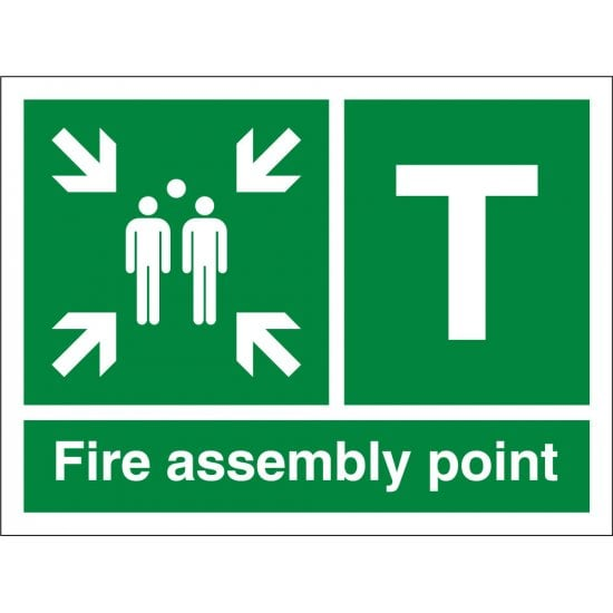 Fire Assembly Point T Signs