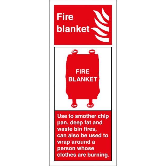 Fire Blanket Extinguisher Signs