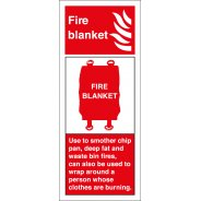 Fire Blanket Extinguisher Signs