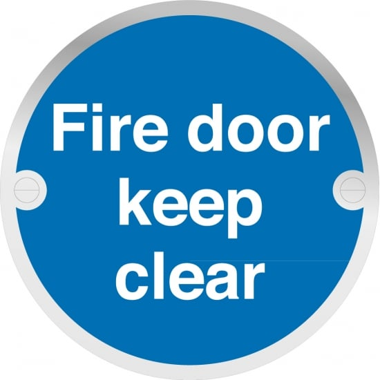 Fire Door Keep Clear Metal Signs