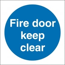 Fire Door Keep Clear Signs