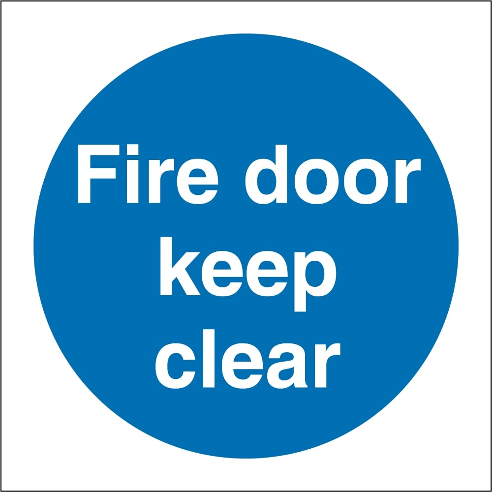 Fire Door Keep Clear Signs From Key Signs Uk