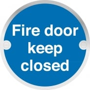 Fire Door Keep Closed Metal Signs