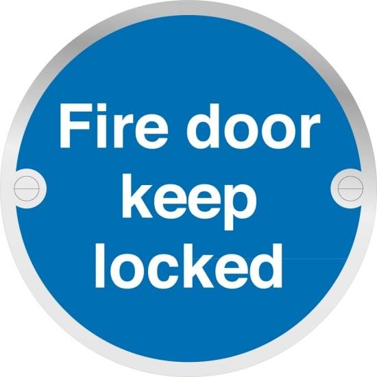Fire Door Keep Locked Metal Signs