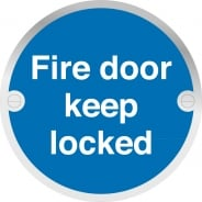 Fire Door Keep Locked Metal Signs