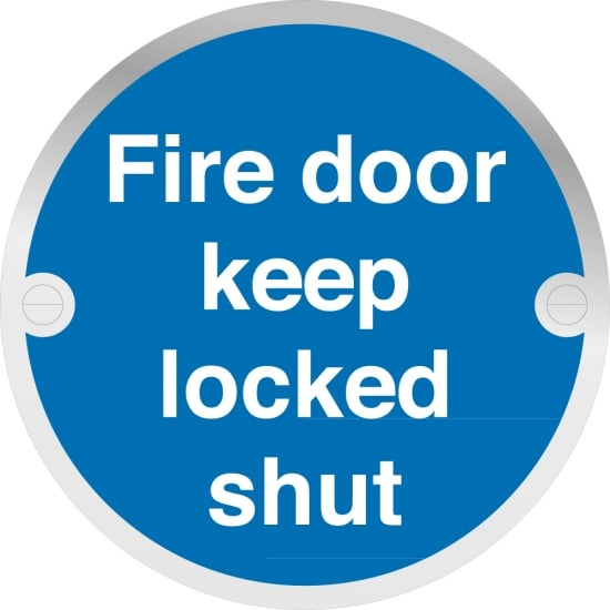 Fire Door Keep Locked Shut Metal Signs