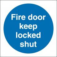 Fire Door Keep Locked Shut Signs