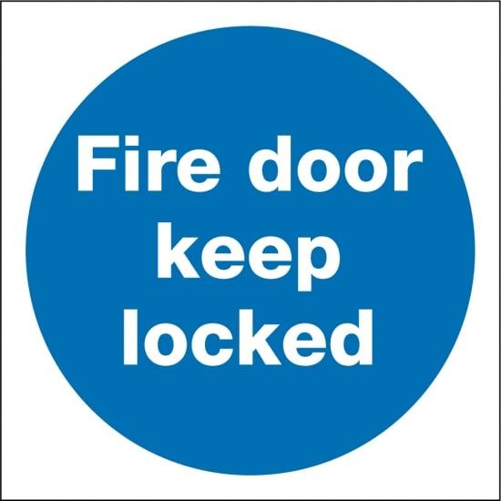 Fire Door Keep Locked Signs