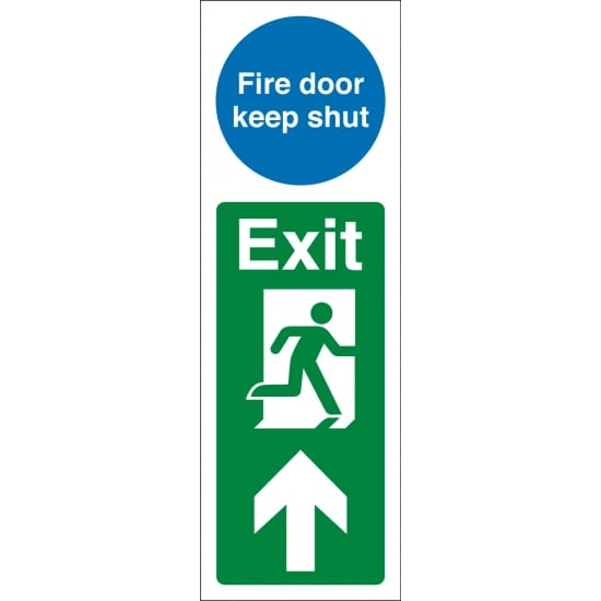 Fire Door Keep Shut Exit Up Signs