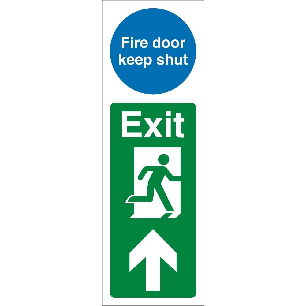 Fire Door Signs : Fire door keep shut exit up signs from key uk